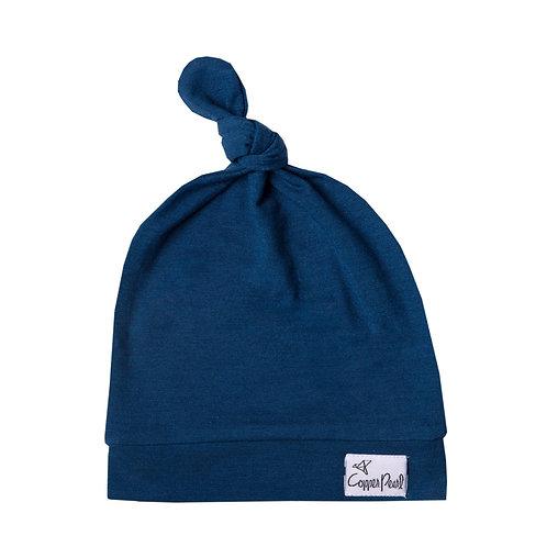 "Newborn Top Knot Hat ""River"""