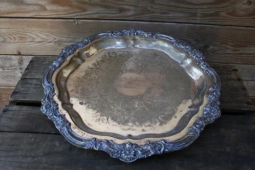 Assorted Large Silver Trays