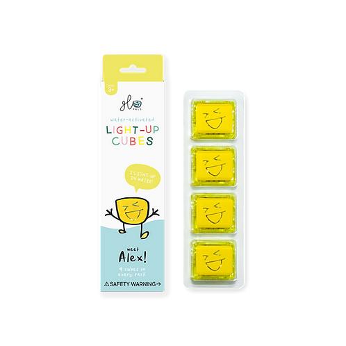 Alex - Yellow Light Up Cubes