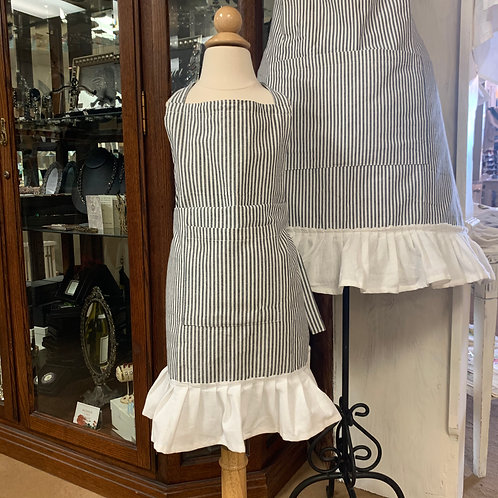 Striped Apron w/Ruffle (Kids)