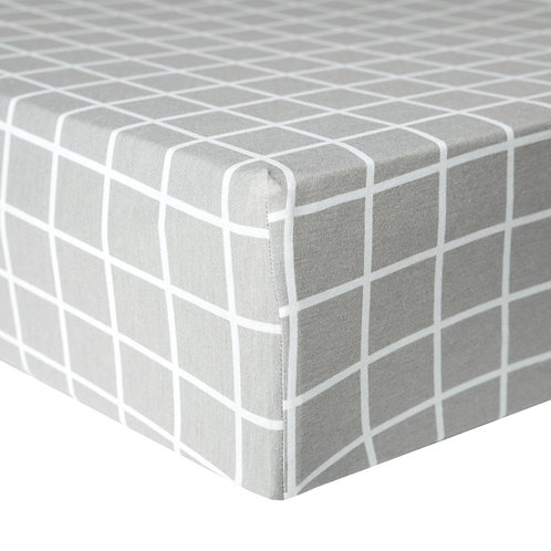 "Premium Knit Fitted Crib Sheet ""Midway"""