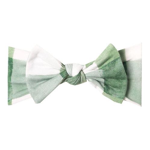"""Knit Headband Bow """"Pine"""""""