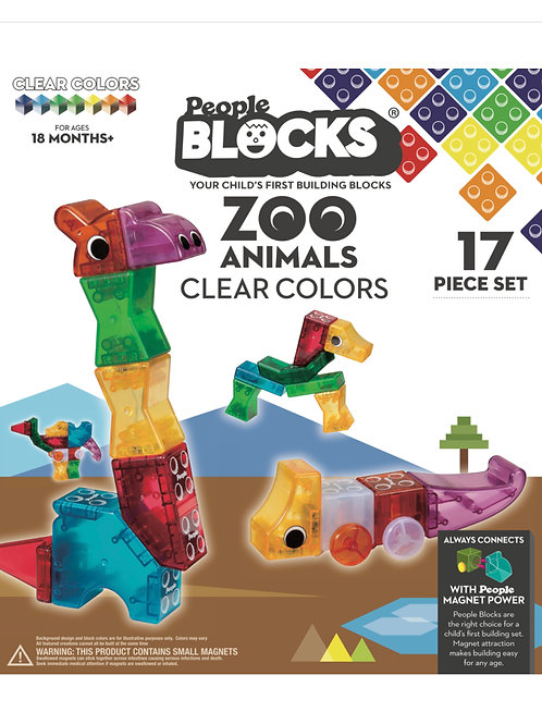 Zoo Animals 17 Block Piece Set