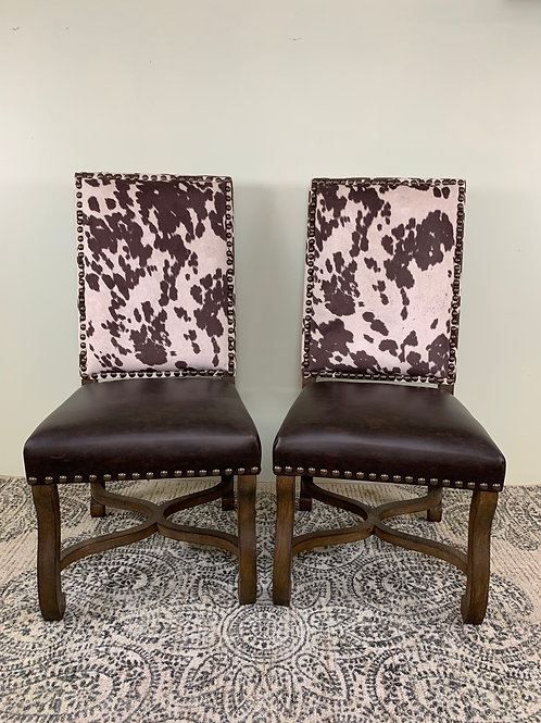 Country Rose Cowhide Chair