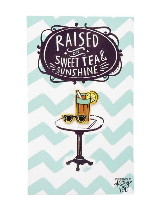 Sweet Tea Enamel Pin