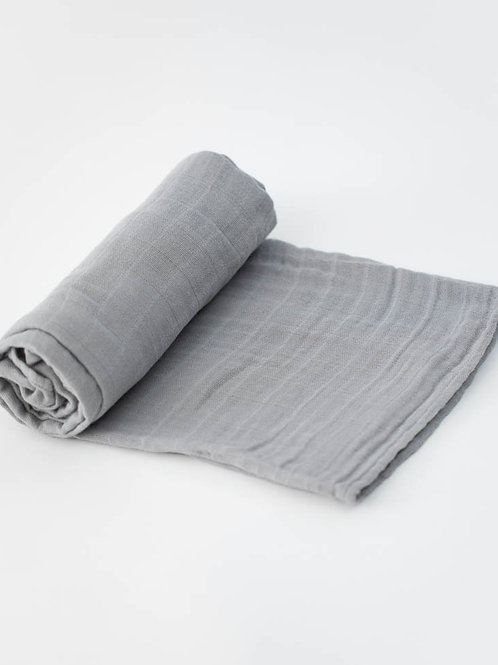 "Cotton Muslin Swaddle Blanket ""Nickel"""