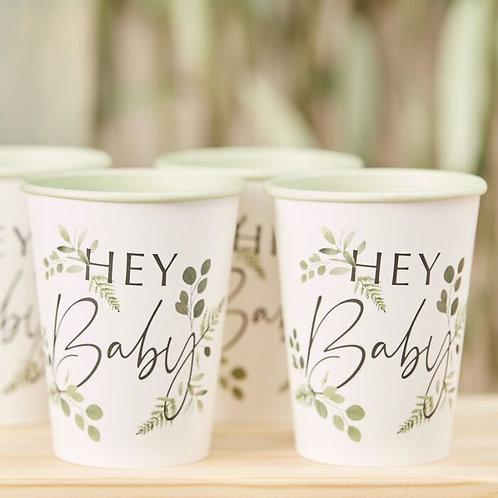 Botanical Hey Baby Cups
