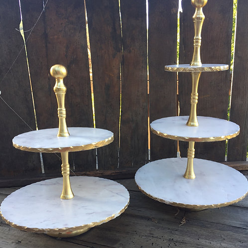 Gold Marble Cupcake Stand
