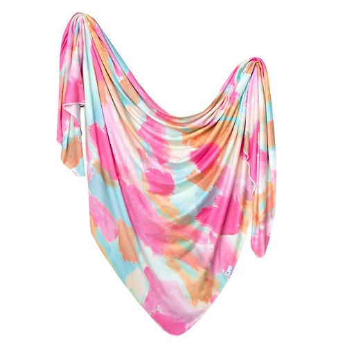 "Knit Swaddle Blanket ""Monet"""