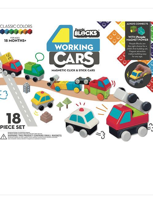 Working Cars 18 Piece Block Set