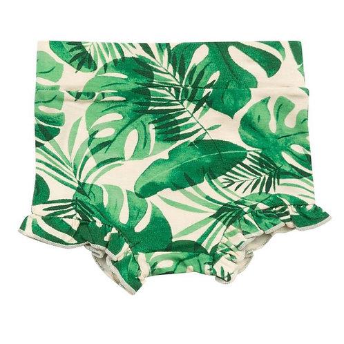 Palm Leaf High Waisted Shorts