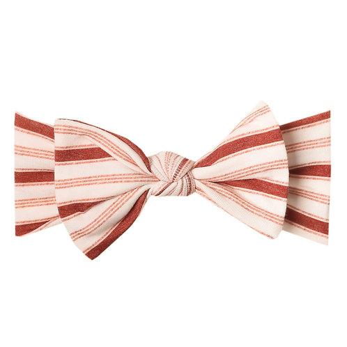 "Knit Headband Bow ""Cinnamon"""