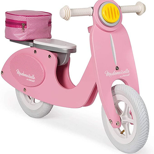 Mademoiselle Pink Wooden Scooter