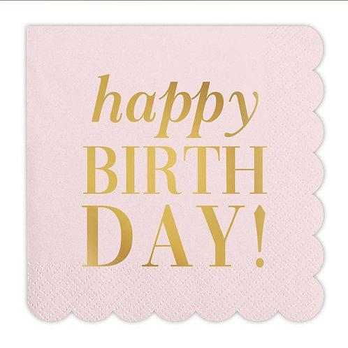 Happy Birthday Cocktail Napkin