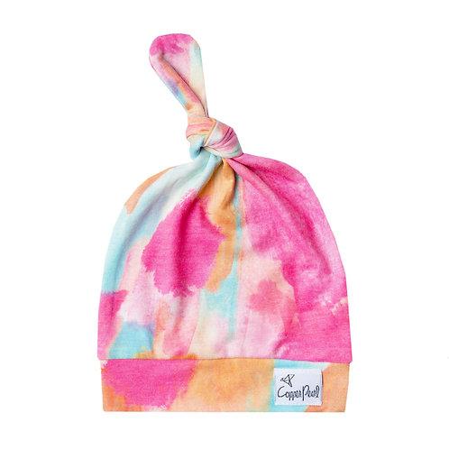 """Newborn Top Knot Hat """"Monet"""""""