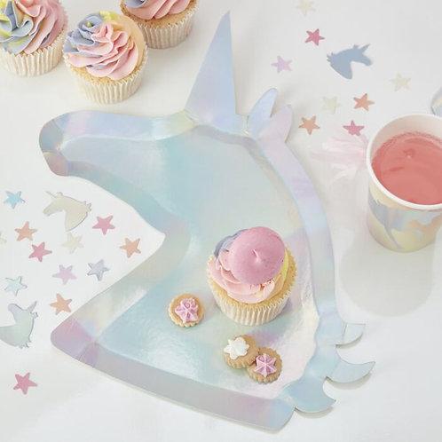 Iridescent Unicorn Party Plates