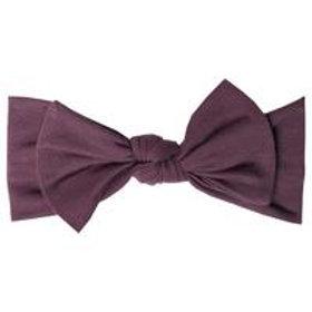 "Knit Headband Bow ""Plum"""