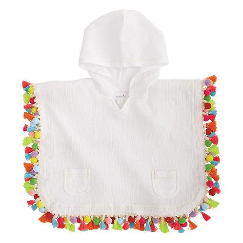 Hooded Tassel Cover Up