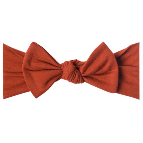 "Knit Headband Bow ""Rust"""