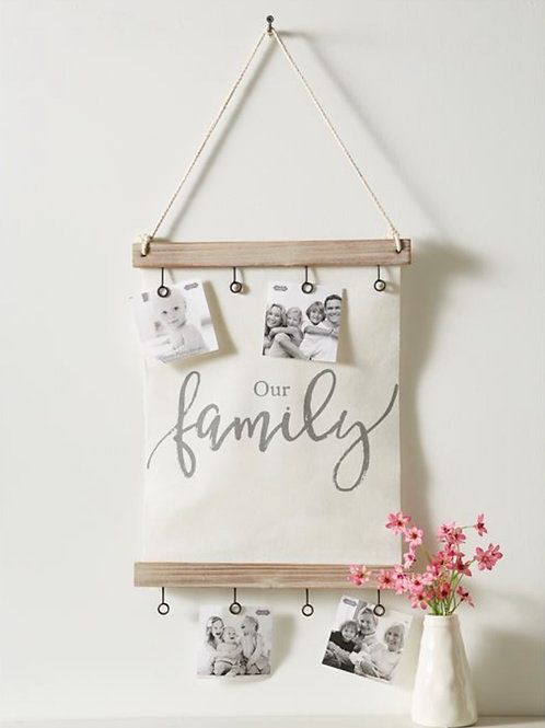 Our Family Canvas Clip Picture Frame