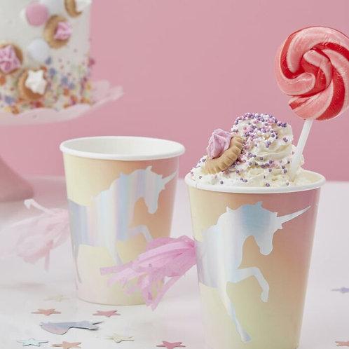 Iridescent Unicorn Tassel Cup