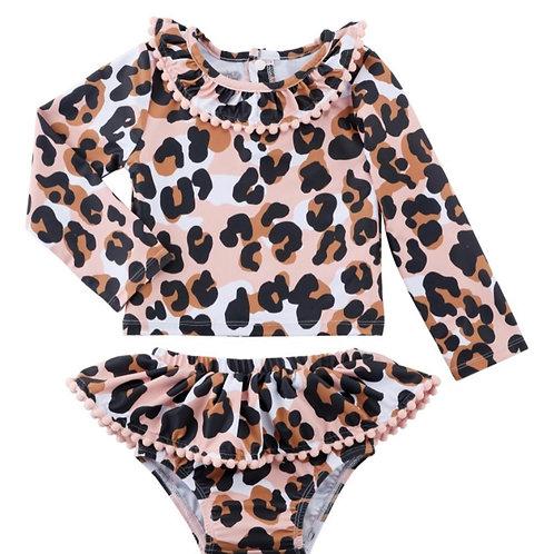 Leopard Toddler Swim Suit