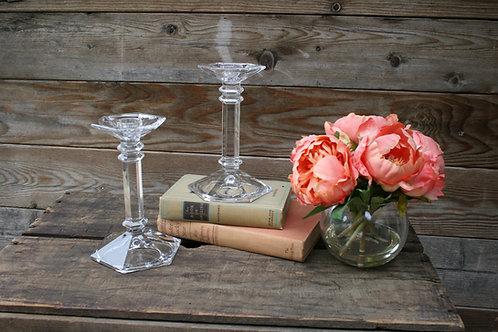 Lg. Glass Candlesticks