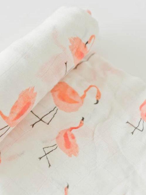 """Deluxe Muslin Swaddle Blanket """"Pink Ladies"""""""