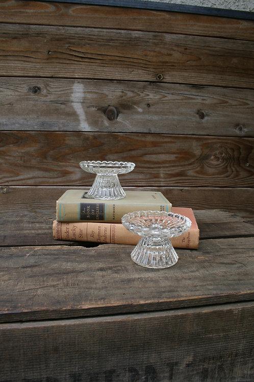 Round Glass Candlesticks
