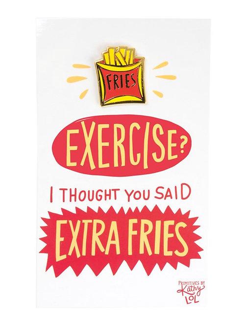 French Fries Enamel Pin
