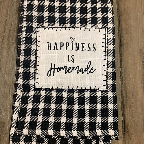 """Happiness is Homemade"" Tea Towel"