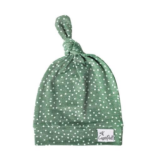 "Newborn Top Knot Hat ""Juniper"""