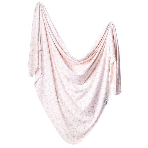 """Knit Swaddle Blanket """"Lola"""""""
