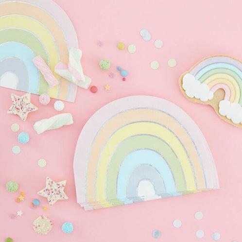 Pastel & Iridescent Rainbow Napkins