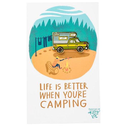 Camper Enamel Pin
