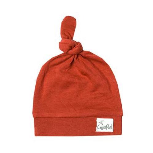 """Newborn Top Knot Hat """"Rust"""""""
