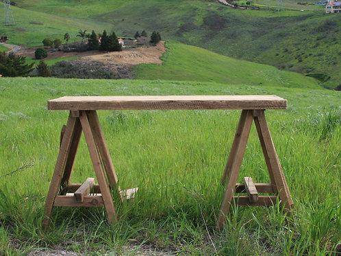 Wheat Sawhorse Table