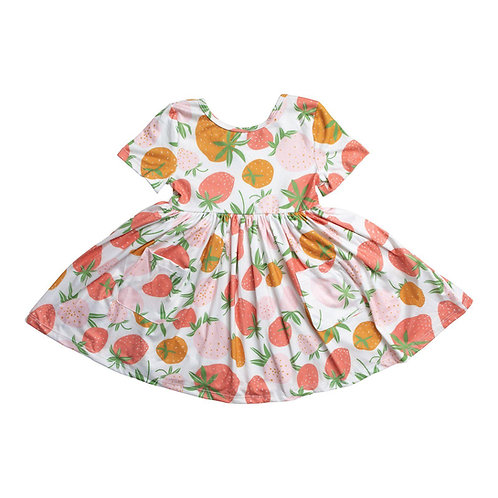 Berry Sweet Short Sleeve Twirl Dress