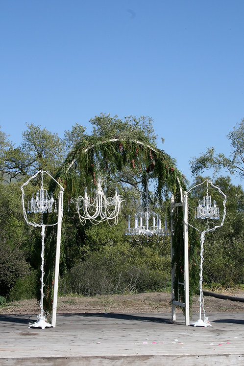 Rounded White Arch