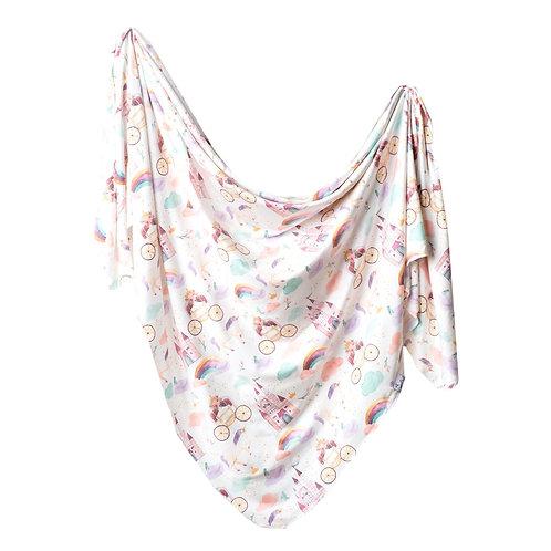 "Knit Swaddle Blanket ""Enchanted"""