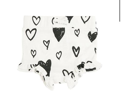 High Waist Shorts - Hearts
