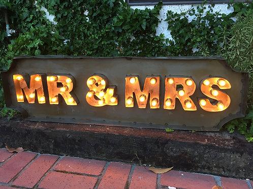Lighted Mr. & Mrs. Sign