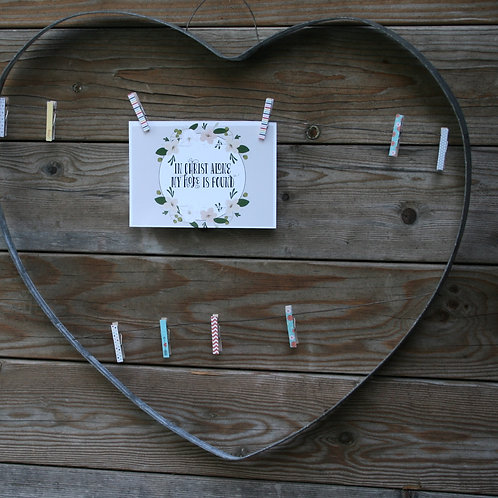 Metal Heart with Wire