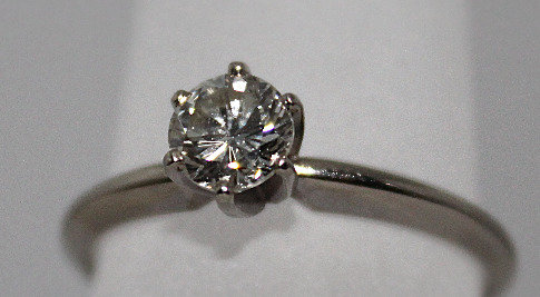 14KT White Gold Round Engagement Solitaire