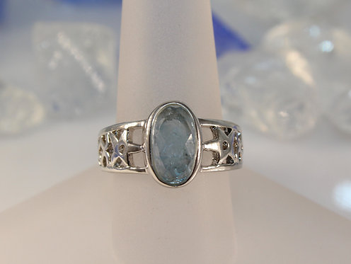 Sterling Silver Aquamarine Ring
