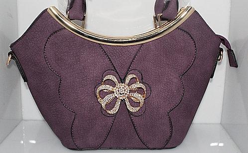 Purple Butterfly & Bow Handbag