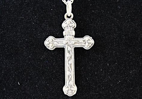 Sterling Silver Ivy Vine Cross