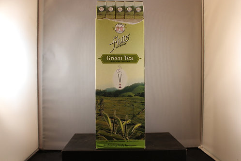 Flute Green Tea Incense from India-Box of 8 Sticks