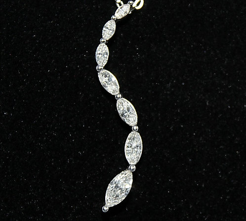 Marquise Diamond & White Gold Necklace