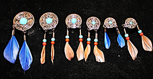 Steel Saddle Plug-Dream Catcher Design-$28-$33